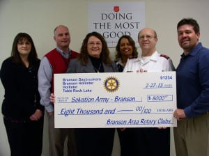 The Branson Daybreakers Rotary Club, the Branson-Hollister Rotary Club