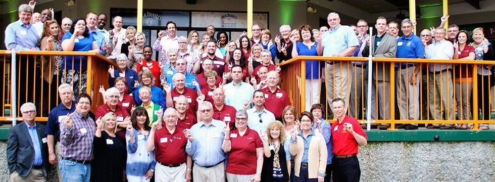 "District Assembly participants in April at Camden on the Lake gathered to say we're ""this close"" to eradicating polio."
